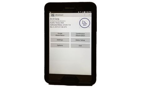 UltraGrav2™  Application on Android™ Tablet